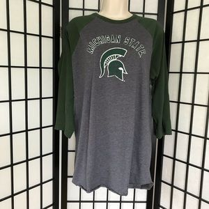 Michigan State Spartans Baseball Style Tee
